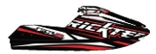 RICKTER FR-2 EVO-1 CARBON HULL BLACK/RED HULL