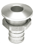 "HOT PRODUCTS 3/4"" STRAIGHT SILVER BILGE FITTING"