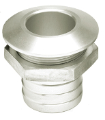 "HOT PRODUCTS 1 1/8"" STRAIGHT SILVER BILGE FITTING"