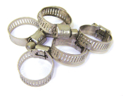 "#5 STAINLESS STEEL HOSE CLAMP (1/4""MIN 3/4"" MAX) WATERLINE"