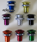 BLOWSION BILGE FITTING ANODIZED BLUE