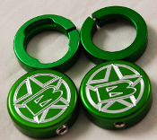 BLOWSION GRIP LOCK RING END CAP SET BILLET GREEN