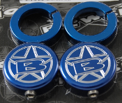 BLOWSION GRIP LOCK RING END CAP SET BILLET BLUE