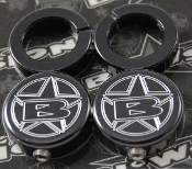 BLOWSION GRIP LOCK RING END CAP SET BILLET BLACK