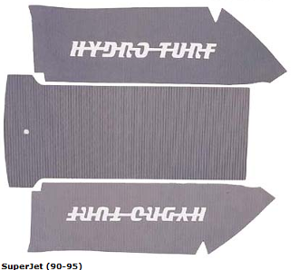 HYDROTURF MAT KIT YAMAHA SUPERJET(90-95) LIME GREEN