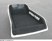 "HYDROTURF MAT HYDROSPACE S4 WITH 2"" KICK TAIL BLACK/WHITE"