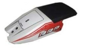 RRP RICKTER CARBON CHIN PAD WHITE W/RED RICKTER STRIPE