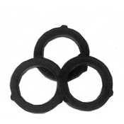 "3/4"" BLACK GARDEN HOSE WASHER"