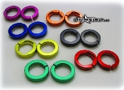 BLOWSION ALUMINUM HANDLE BAR GRIP LOCK RING-ODI RED