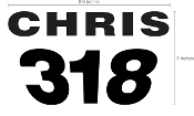 JETTRIBE CUSTOM NAME /NUMBER *ONLY* (FOR RACE PLATE #13432)