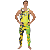 "JETTRIBE ""SHATTERED"" U.S.C.G. SIDE-ENTRY VEST YELLOW/GREEN"