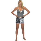 "JETTRIBE ""SHATTERED"" LADIES BOARD SHORTS GREY"