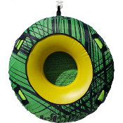JETTRIBE DONUT TOWABLE ONE PERSON INFLATABLE TUBE - GREEN