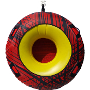 JETTRIBE DONUT TOWABLE ONE PERSON INFLATABLE TUBE - RED