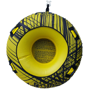 JETTRIBE DONUT TOWABLE ONE PERSON INFLATABLE TUBE - YELLOW