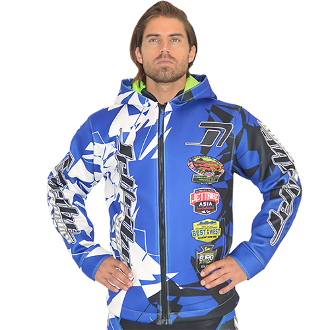JETTRIBE TOUR COAT SHATTERED MOTO TOUR JACKET - BLUE
