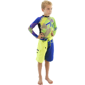 JETTRIBE BOYS TWO TONE SHORTS - BLUE / GREEN