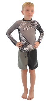 JETTRIBE BOYS TWO TONE SHORTS - BLACK / GREY
