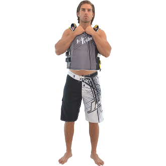 JETTRIBE SPIKE MEN'S BOARD SHORTS - BLACK/WHITE