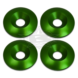 BLOWSION 8MM BILLET CONICAL WASHER GREEN