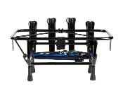 FISHING RACK 4 ROD HOLDER WITH GAS PLATES BLACK