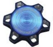 HOT PRODUCTS RACING BILLET KAWASAKI GAS CAP - BLUE