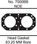 HOT PRODUCTS KAW 800SXR HEAD GASKET 83.25MM BIG BORE