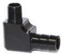 "RRP ALUMINUM 1/8"" NPT TO 3/8"" BARB  FITTING BLACK"